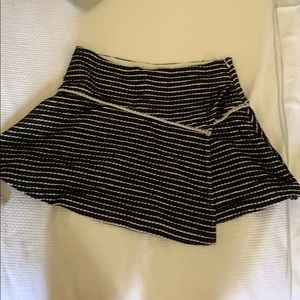 Free people white and black stripped skirt